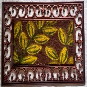 Fancy Coir Brush with Printing Mat