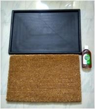 Corona Disinfectant Coir & Rubber Door Mat Set