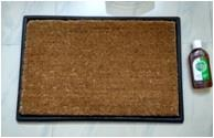 Corona Disinfectant Coir & Rubber Door Mat Set