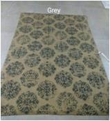 Printed Dobbie Weaving Jute rugs with carpet backing