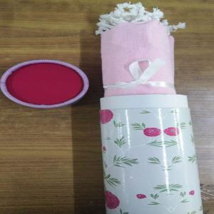 Cotton Beach Towels (Foutah) in Printed Water Repellent Paper Tubes