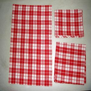 3 Pc set Fused Placemat + Napkin + Kitchen towel stock