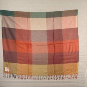 VISCOSE CHECK SHAWL