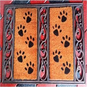 Fancy Color Coir Brush Printing Mat Asst Color
