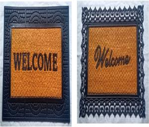 Coir with Rubber Grill Mat welcome