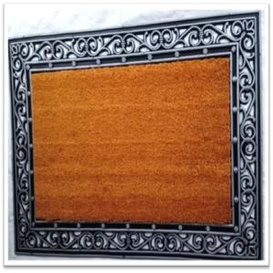 Fancy Color Coir Brush Rubber Grillmat Asst-Color