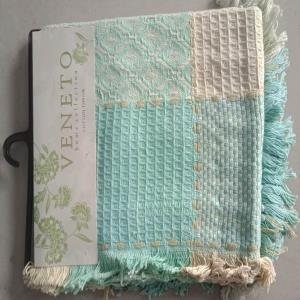 100% Cotton Dobbie & Jacquard  Throws with Header Hanger