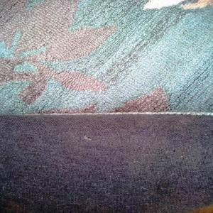 1 X 40 HQ Organized Hand Tufted Hooked loop weave Woolen Carpet with viscose blend Stock