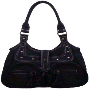 Black Canvas bag with front zipper pockets RK-B-04