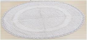 Round Crochet Bathmat