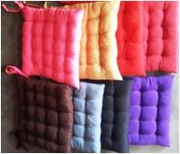 Polyester Fabric chairpads - 9 tucks