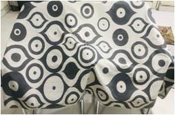 FOUTA towel with lace/pom pom & Printing
