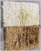 Handloom Poly Shaggy Rugs with Brush Latex