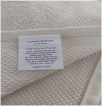 A Grade Organic cotton GOTS Certfieed Costco Terry Bath Towel Organized Stock