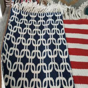 100% Wool Handwoven  Printed Rug