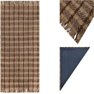 Handwoven Jute Rug with Cotton Canvas Carpet Backing