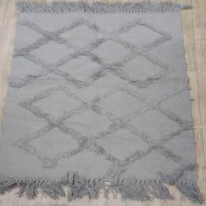 100% Cotton Designer  Rug with Tuffting