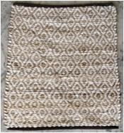 Diamond Jute Cotton Rug
