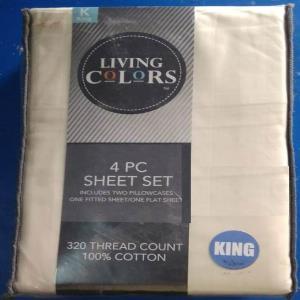 100% Cotton Sheet Set Stock 1 flatsheet, 1 fitted sheet, 2 Pillows
