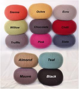 100% Cotton Knitted POUF STOCK