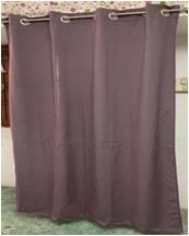 Cotton Curtain with 8 Grommets