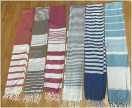 Poly Cotton Foutah/ Beach Towel With Frindges