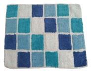 Cotton Tonal Block Bath Mat