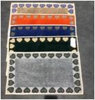 Cotton Bath Mat with Border Printed