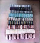 Cotton Stripe Reversible Bathmat