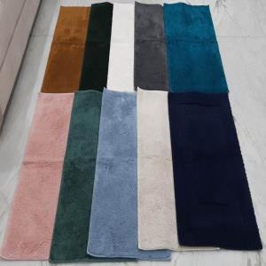 100% Cotton Rubber  Backed anti Skid Heavy Quality Bathmats