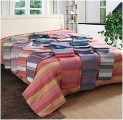 Cotton Striped bed cover