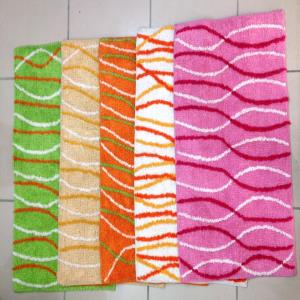 Cheap stripe  bathmat stock