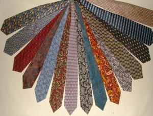 printed silk Tie Stock
