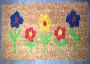 PVC backed Printed coir step mat stock