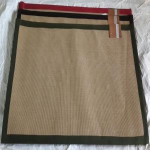 Latex backed Jute Rug with cotton tape Stock