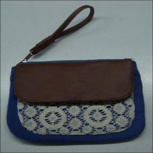 Cotton Bag - Macrame Pouchtte stock