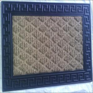 WS-04- FANCY COIR GRILL EMBOOSS MAT  Stock