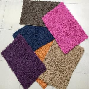 Chenille shaggy bathmats Stock