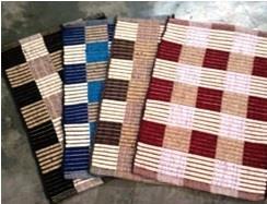 Designer Checkered Cotton Chenille Rugs