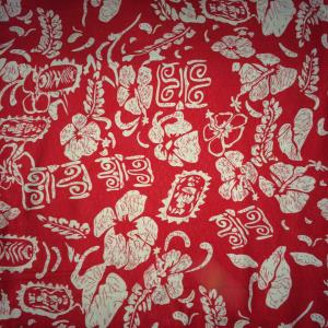 Printed Slub Rayon Fabric Stock