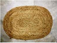 Oval Natural Braded Jute Rug