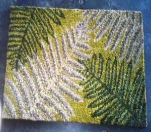 PVC backed Coir mats stock