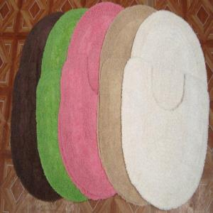 100 %  cotton bathmat set