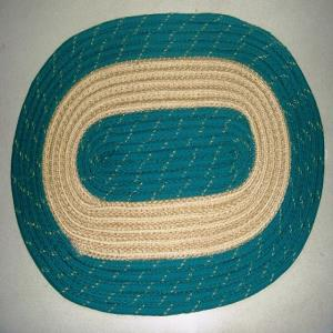 PP Braided Ovel  Solid Mat Stock