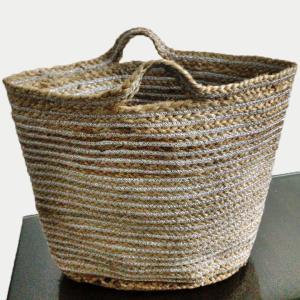 Hand Woven Jute Lurex Bag
