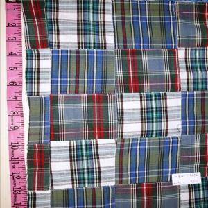 Mill made patchwork shirting fabric