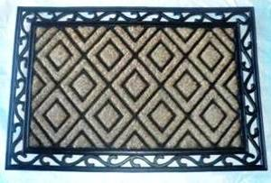 ws-140 COIR BRUSH RUBBER GRILL MAT STOCK