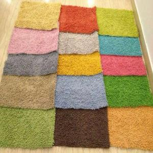 UV clear Chenille Shaggy Bathmats Stock