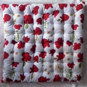 Pure Cotton Filled Chairpad Without Strings Stock