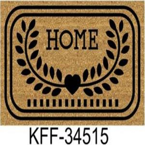 Js Home stenciled PVC Coir  mat Stock